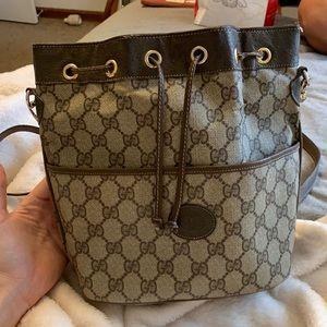 Authentic VINTAGE Gucci Drawstring Bag